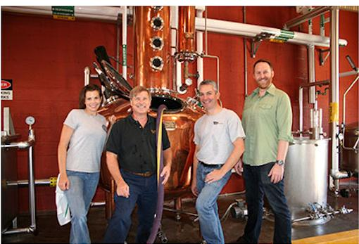 Shown, from left, are: Colleen Rice, Peter Kamer, Kevin Hall and Colin Blake, who were with equipment at the Distilled Spirits Epicenter.