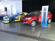 A Ford Escape model is shown next to Matt Kenseth's No. 17 Ford Fusion.