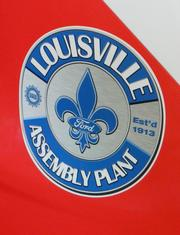 The Louisville Assembly Plant decal is on the Ford Escape that will pace the Quaker State 400 race.