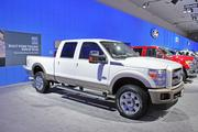 Ford's F-350 Super Duty truck, which is made at the Kentucky Truck Plant in Louisville, also was on display in Los Angeles.