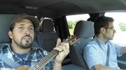 Chef Ben Sargent played music as GE engineer Justin Berger drove a leg of their 2,000-mile, 10-day Freshpedition.