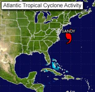 Hurricane Sandy causing canceled flights