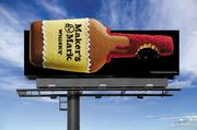 This holiday billboard offers an alternative to the traditional gingerbread cookie.