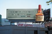 This billboard paid tribute to the Boston Red Sox and Fenway Park.