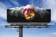 Another seasonal billboard from Maker's Mark.
