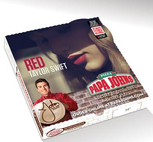 Papa John's is promoting Taylor Swift's new album with a pizza deal and online offers.