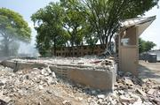 Demolition of the Sheppard Square building began last year.