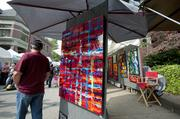 About 750 artists set up booths at this year's St. James Court Art Show.