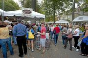The lines were long and consistent at the Graeter's Ice Cream booth at the St. James art show.