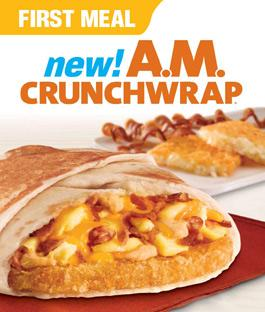 Taco Bell's expanded menu will add items such as oatmeal and yogurt parfaits to currently available items such as the A.M. Crunchwrap.