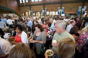 About 1,100 tickets were sold to food lovers of all kinds who crowded into the concourse at Louisville Slugger Field Wednesday.