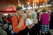 Katie Walker, left, and Caroline King enjoyed the samples at the Taste of Kentucky Derby Festival event.