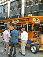 No. 8 Thirsty Pedaler 'pub crawler' rolls into downtown This article highlighted a new business that uses a 15-passenger bicycle to transport customers between downtown bars.