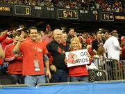 These U of L fans were ready to celebrate after the Cardinals took an early lead over the University of Florida Gators.