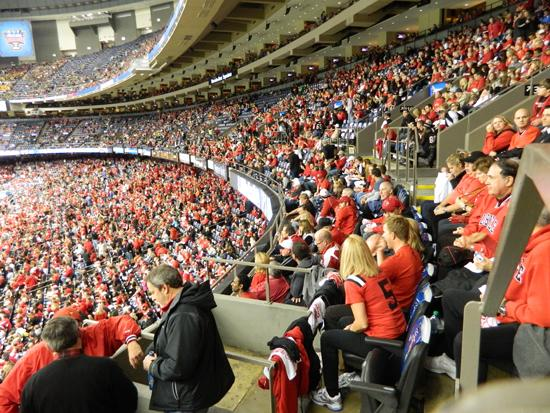 An estimated 30,000 U of L fans attended the Sugar Bowl in New Orleans.