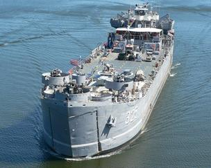The USS LST (Landing Ship Tank) 325, which has visited Jeffersonville and Louisville on a few occasions, is one of only two remaining operational vessels of its kind.