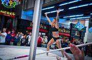 Indiana University graduate Vera Neuenswander participated in Vault in the Ville at Fourth Street Live Friday night.