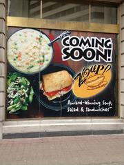 Zoup: The Soup Company Location: 312 S. Fourth St. Opening: Soon, according to a sign posted at the site.