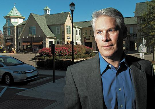 Jeff Underhill, co-owner and co-manager of Underhill Associates, is shown at the company's Westport Village development.