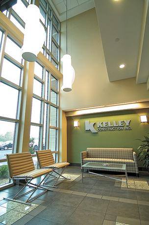 Reception, waiting area of Kelley Construction Inc.