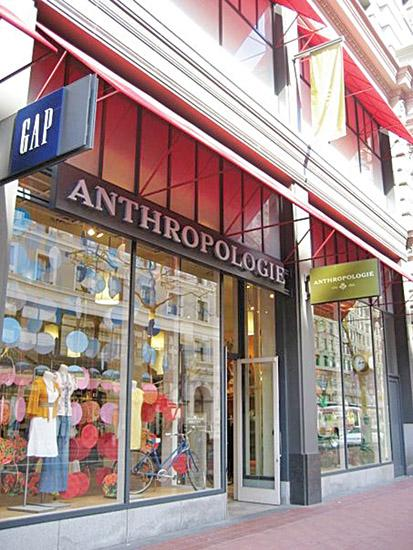 There are 164 Anthropologie stores located in the United States, including this one in San Francisco.