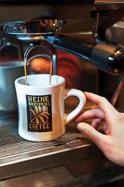 An expresso drink was made at Heine Brother's newest location on Fourth Street.