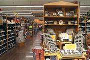 The new kitchen center in the Goss Avenue Kroger displays dinnerware and related items.