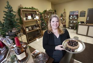 Kelly Ramsey has opened Art Eatables on South Fourth Street. The shop features a wide variety of handmade bourbon chocolates.
