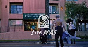 Taco Bell's Super Bowl ads were centered around its Live Mas slogan and a group of senior citizens on a late-night partying spree.