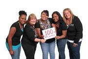 Five Norton Healthcare information services employees who work together lost 100 pounds using the company's wellness tools and the Lose It smartphone app that tracks calories. They are, from left: Regina Shelton, Sheri Armour, Vonetta Cox, Nika Rozier and Carla Cook.
