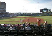 The Louisville Bats played a game at Louisville Slugger Field against the Charlotte Knights on Thursday, Aug. 2.