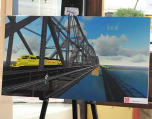 Artist's rendering of pedestrian/bicycle path on the Harahan Bridge