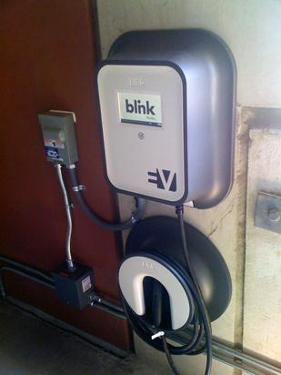 The EV Project officially unveiled its first Memphis-area electric vehicle charging station. It is located on the third floor of the Peabody Hotel's parking garage.