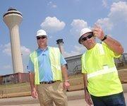 No. 1: Flintco LLC   In this photo: Kevin Moyes, Flintco division president, and Les Hughes at Memphis International Airport