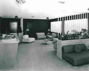 The lobby of the nation's first Holiday Inn, which opened 60 years ago in Memphis
