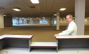 Samuels Furniture president Harry Samuels in new White Station store