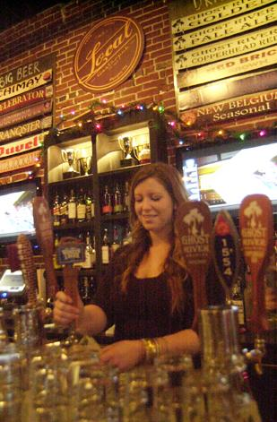 Manager Anna Katherine Metzger in Local Gastropub's Downtown bar and restaurant