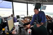 Interior of 850-square-foot cab at Memphis' new air traffic control tower