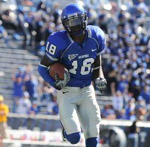 University of Memphis wide receiver Marcus Rucker