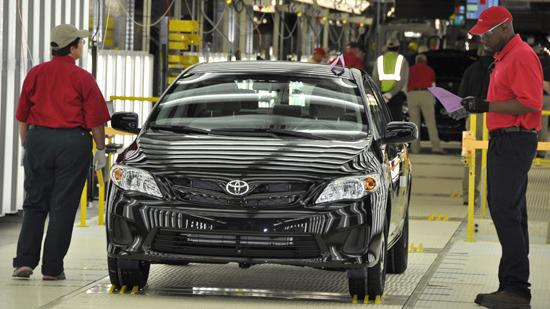The 2012 Corolla goes through final inspection at Toyota Motor Manufacturing, Mississippi.