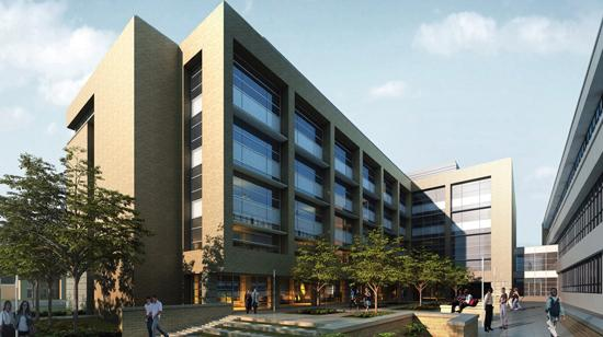 Artist's rendering of $63 million expansion to the University of Mississippi School of Medicine