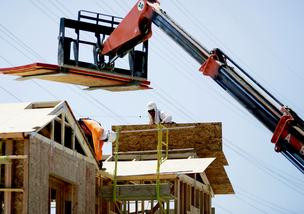 The volume of single-family building permits issued in November hit a four-year high.