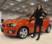 Stephanie Leigh Rose with a 2012 Chevrolet Sonic