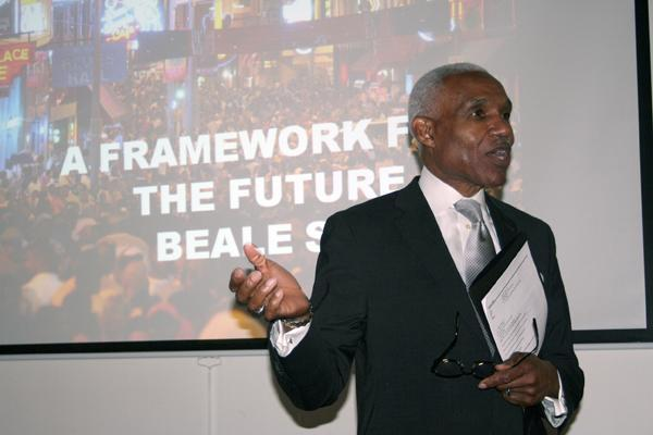 Memphis Mayor A C Wharton discussing the future of Beale Street.