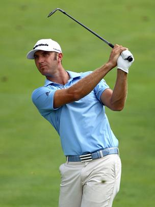 Golfer Dustin Johnson, seen in this file photo, won the Hyundai Tournament of Champions on Maui Tuesday,