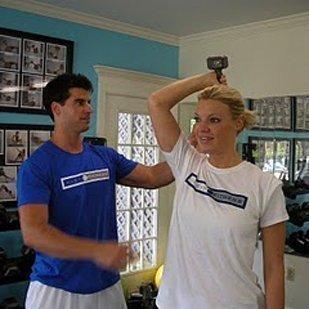 Corey Klein with client Leslie Freeman