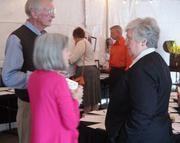 Germantown mayor Sharon Goldsworthy (right) chatting with guests