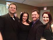 Josh Quinn, Amy Hanford, Brent Davis and Emily Chateau