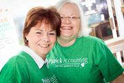 On St. Patrick's Day, Patrick Accounting & Tax Services PLLC celebrated with a client appreciation party. Attending: Sue Ann Bowers and Cathy Dorton