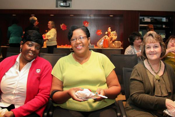 Attending the recent Paragon National Bank's United Way Campaign Kickoff Breakfast: Chondrea Black, Teresa Harris and Joyce Davis